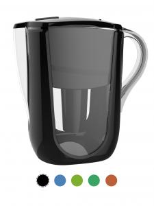 AOK 108A Black Alkaline Water Filter Pitcher