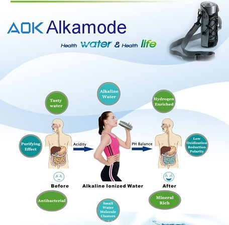 AOK 908 Alkaline Ionized Water Bottle